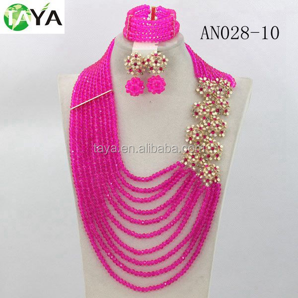 2014 Latest Wedding Jewelry Sets Best Selling chinese crystal beads wholesaleAN068 latest design beads necklace