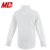Wholesale Children School Uniform White Shirt Long Sleeve Shirt with lotus cuff and panel
