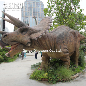 Animatronics dinosaur for theme park of Triceratops