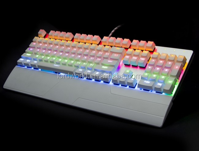 Real Mechanical with Float Keycap Kailh Switch 7 colors RGB gaming Keyboard 104 keys