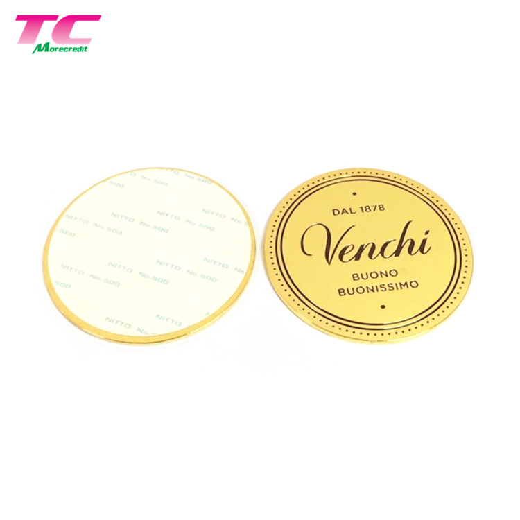 Custom Metal Sticker Label Embossed Logo Metal Sticker Plate