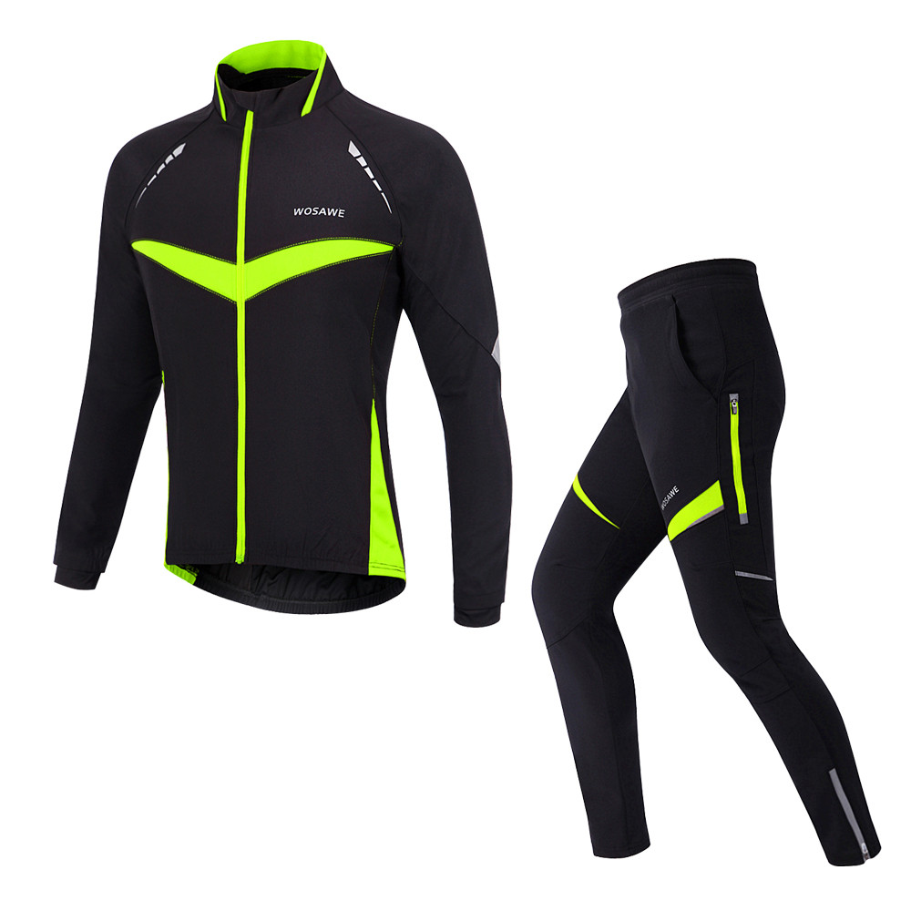 Pro men cycling wear Windproof Cycling Jerseys Set Winter Thermal Fleece Cycling  Jackets cf2e2632a