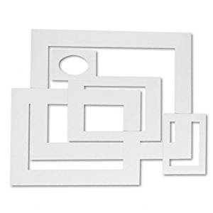 Pacon : Pre-Cut Mat Frames for Photo/Art, 12 Mats/ 5 Asst Sizes, 60/pk, White -:- Sold as 2 Packs of - 60 - / - Total of 120 Each