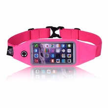 Hot sale running sports elastic waist bag with mobile phone