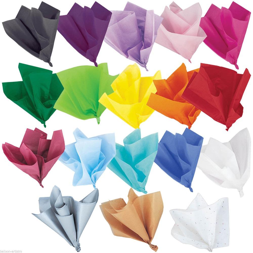 रंगीन कला शिल्प उपहार लपेटें लपेटकर टिशू पेपर