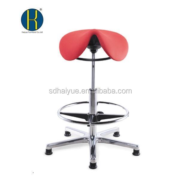Bán buôn red vải salon tóc cắt tóc ghế với vòng cơ chế Thanh phân