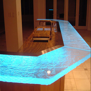 Luxury Led Lit Glass Countertops Bar Countertop Buy Bar