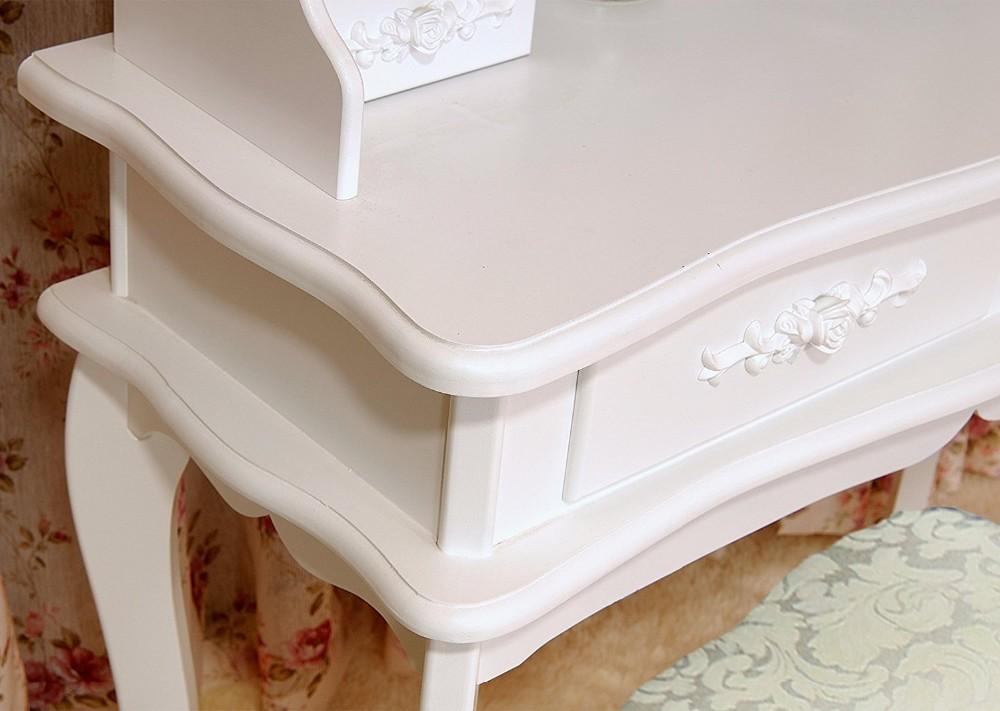 Vanità di trucco set tavolo da letto tavolo da toeletta con sgabello