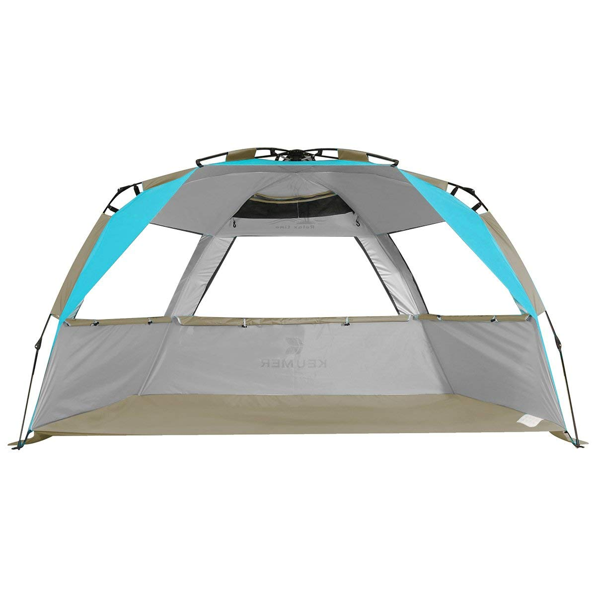 1f8e1eff981b Get Quotations · G4Free Easy Set up Beach Tent Pop up Sun Shelter Large  Family Beach Shade UV Protection