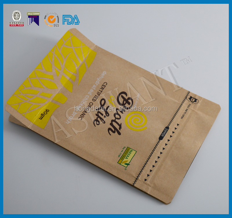 Custom printed deferent size of kraft paper bags