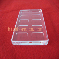 Clear High Purity Fused Silica Square Quartz Glass Plate