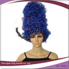 Hot selling wholesale dark blue party high carnival party wig