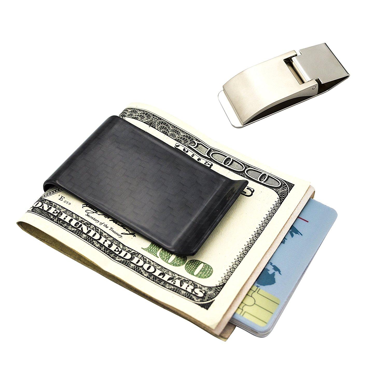 Cheap metal credit card holder money clip find metal credit card get quotations carbon fiber and metal money clip credit card holder mosiyeef business card holder clips colourmoves