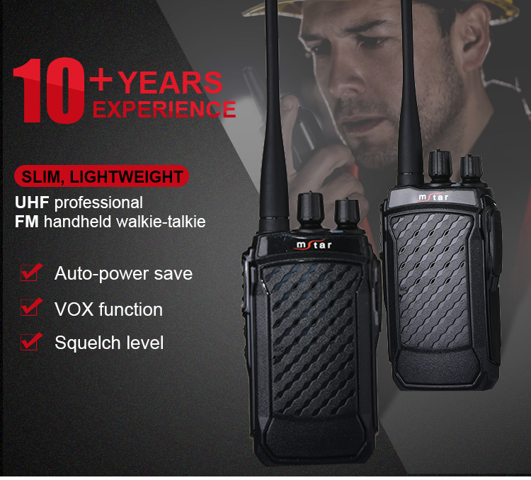 Mstar M5 professional walkie talkie 5-10km for business/hotel/construction site