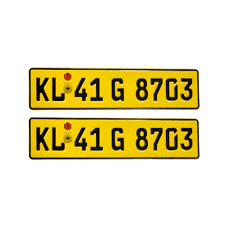 Groothandel custom afdrukken aluminium metal license auto nummerplaat in kerala