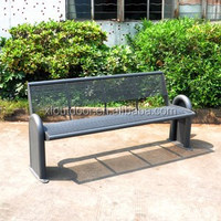 Outdoor furniture cheap steel garden bench for park and street