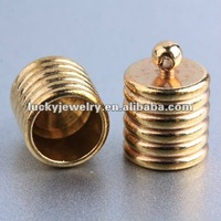 wholesale metal jewelry accessory jewelry findings end cap for leather cord