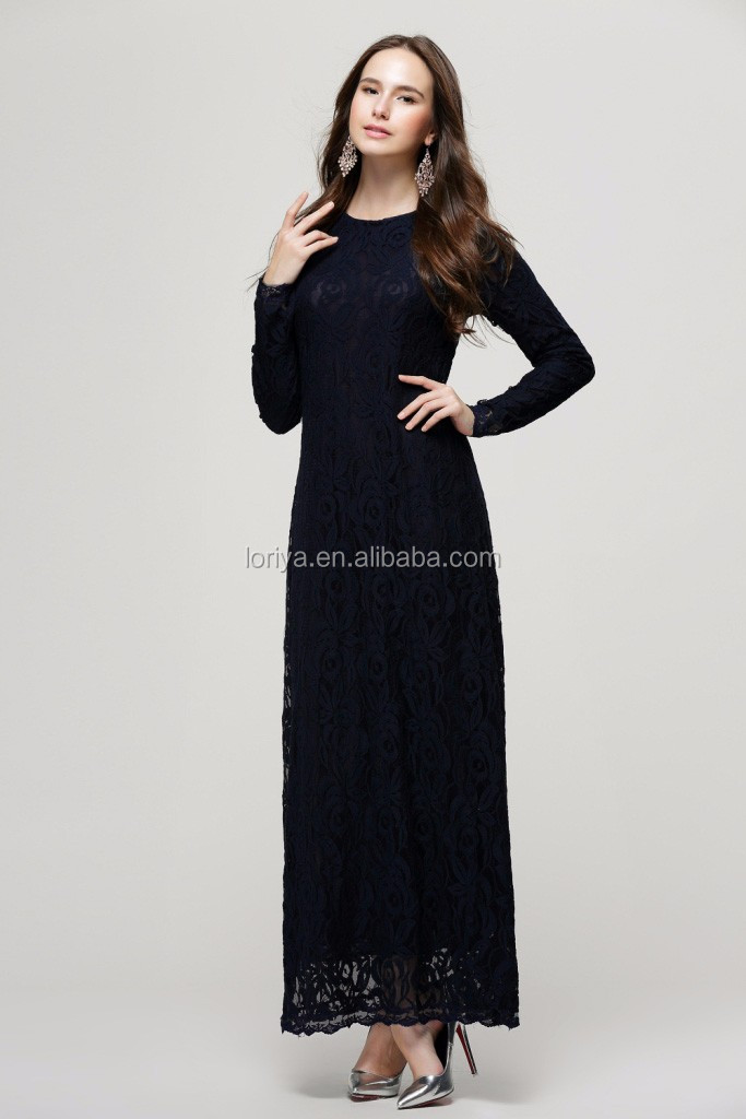 2879e60374e00 Delicate lace muslim dress abaya for hot sale beautiful long sleeves jilbab  caftan modest women islamic
