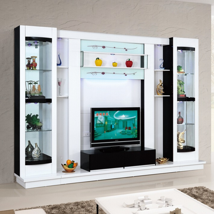 latest design diy modern tv wall unit 012 wood led tv