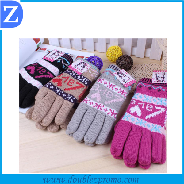 christmas gloves wholesale knitted touch screen gloves