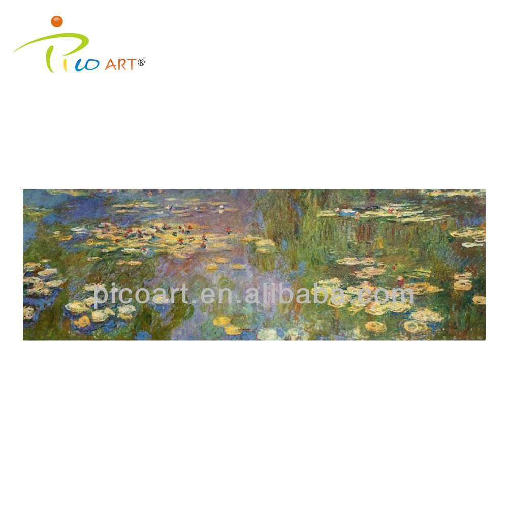 Large Size Handmade Abstract Water Lilies Oil Painting