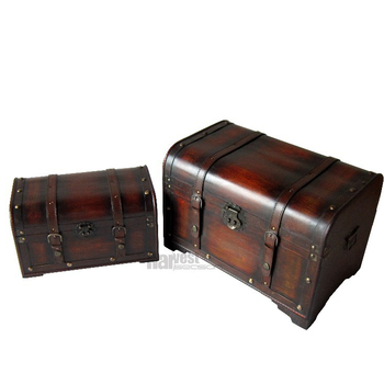 lovely vintage style home decorative wooden storage trunk