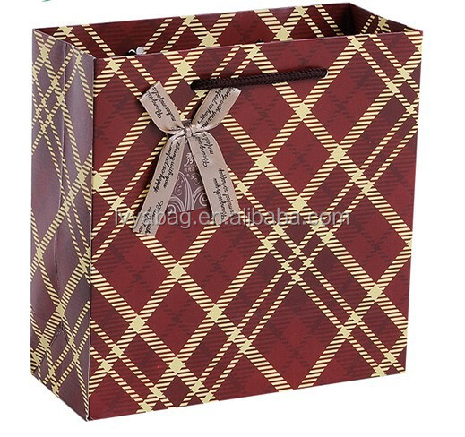 Gift Paper Bag | Grid pattern England design