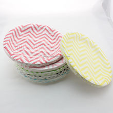 Striped Chevron Polka Dot Party Paper Plates 9 inch Disposable Paper Plates