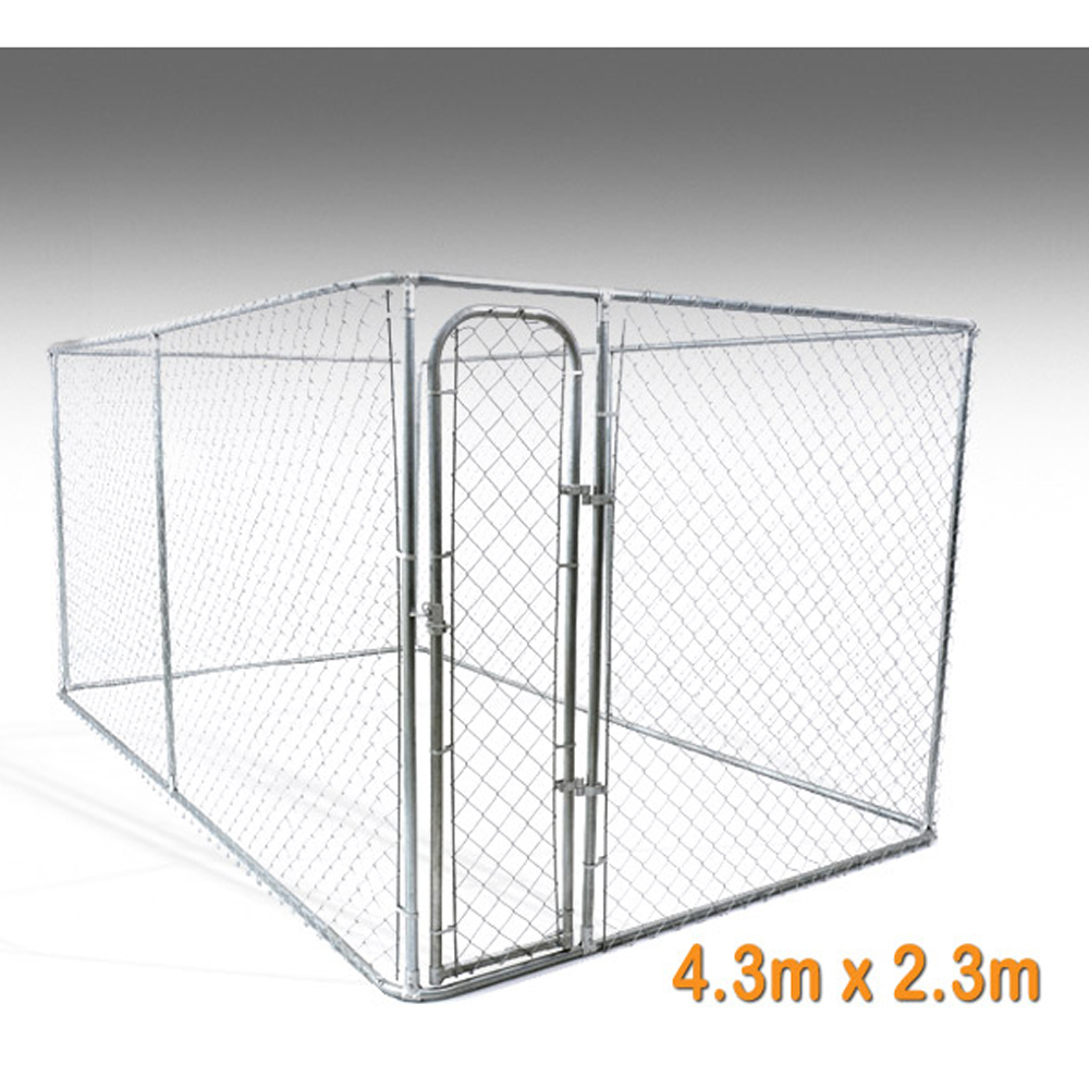 Australian Standard Large Outdoor Galvanised Chain Link Pet Enclosure Dog Kennels Cage