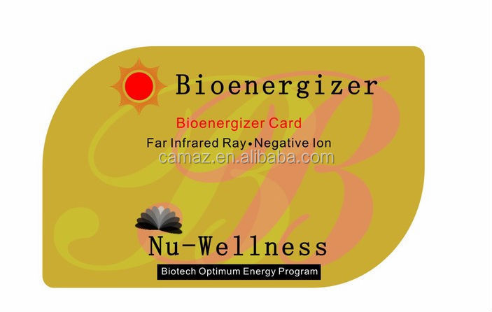 CHC 5059 Nanotechnology health card bio nano energy card for wholesale, OEM! oppbag packaging with instruction manual card
