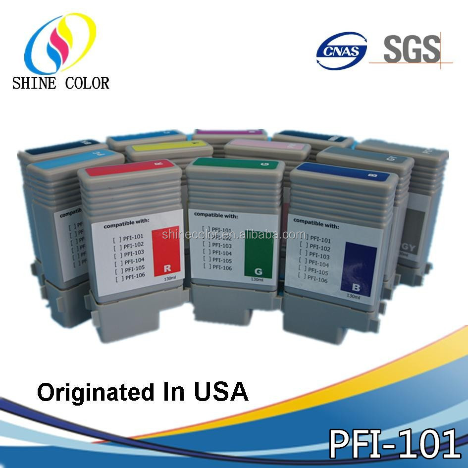 13ml PFI101 PFI 101 PFI-101 compatible ink cartridge for Canon IPF5000 Inkjet Top Quality