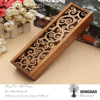 HONGDAO custom new design wood pencil-case pen box, wood brush pot for sale