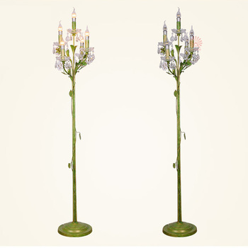 Arter Countryside Flower Floor Lamp For Home Decorative Candle Wrought Iron  Floor Lighting