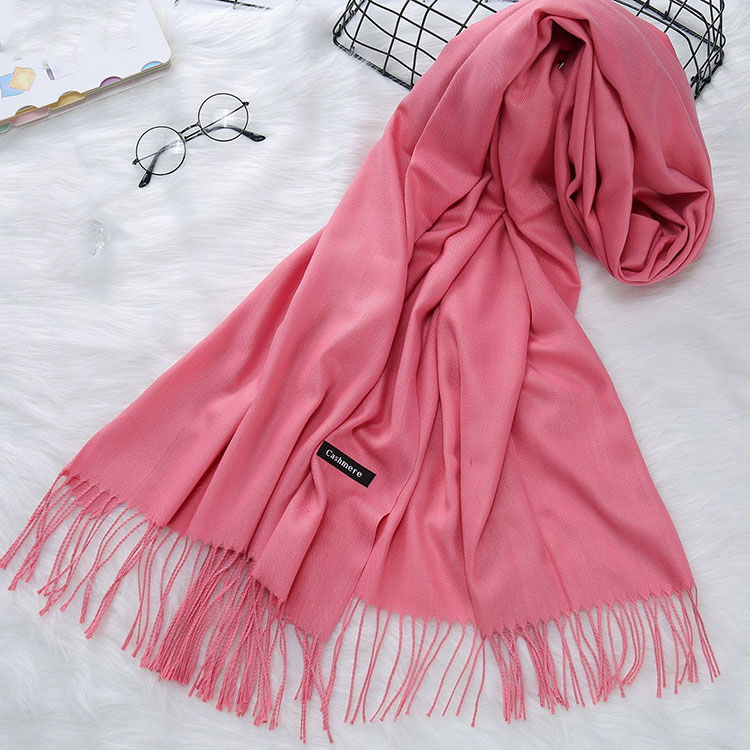 Wholesale custom printed pure women tassel cashmere scarf