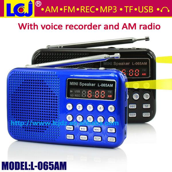 L-065am Mini Usb Recordable Digital Radio Am Fm Radio Receiver ...