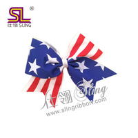 hot sale 4th of July decorative American national day hair bow