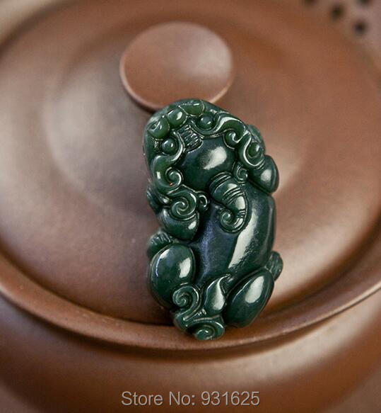 Natural Real HeTian Yu hand-carved Chinese PiXiu Blessing