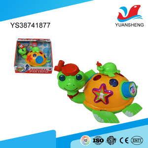 cheap wholesale baby cute animal toys electric small plastic turtles with EN71 certificate
