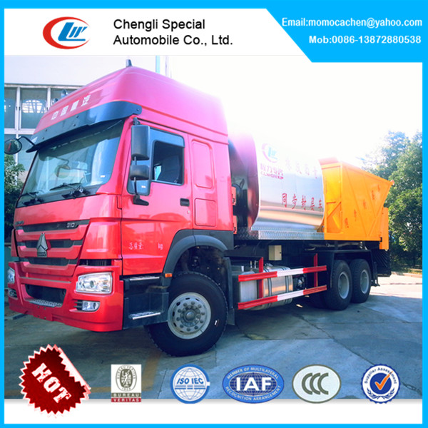 Hot!howo road construction chip spreader,road stone chips,asphalt mixer truck