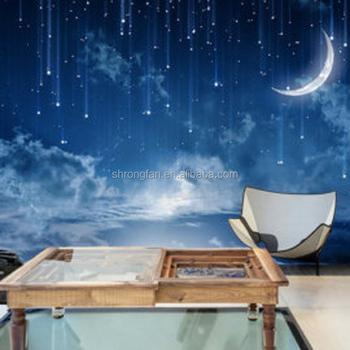 Galaxie Bleu Papier Peint Beau Ciel Nocturne Papier Peint Pour La Decoration De La Chambre Buy Nuit Ciel Papier Peint Bleu Galaxie Murale Belle Nuit