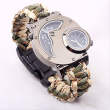 Newest Outdoor Multifunctional Mountaineering Watch Fancy Survival Paracord Bracelet