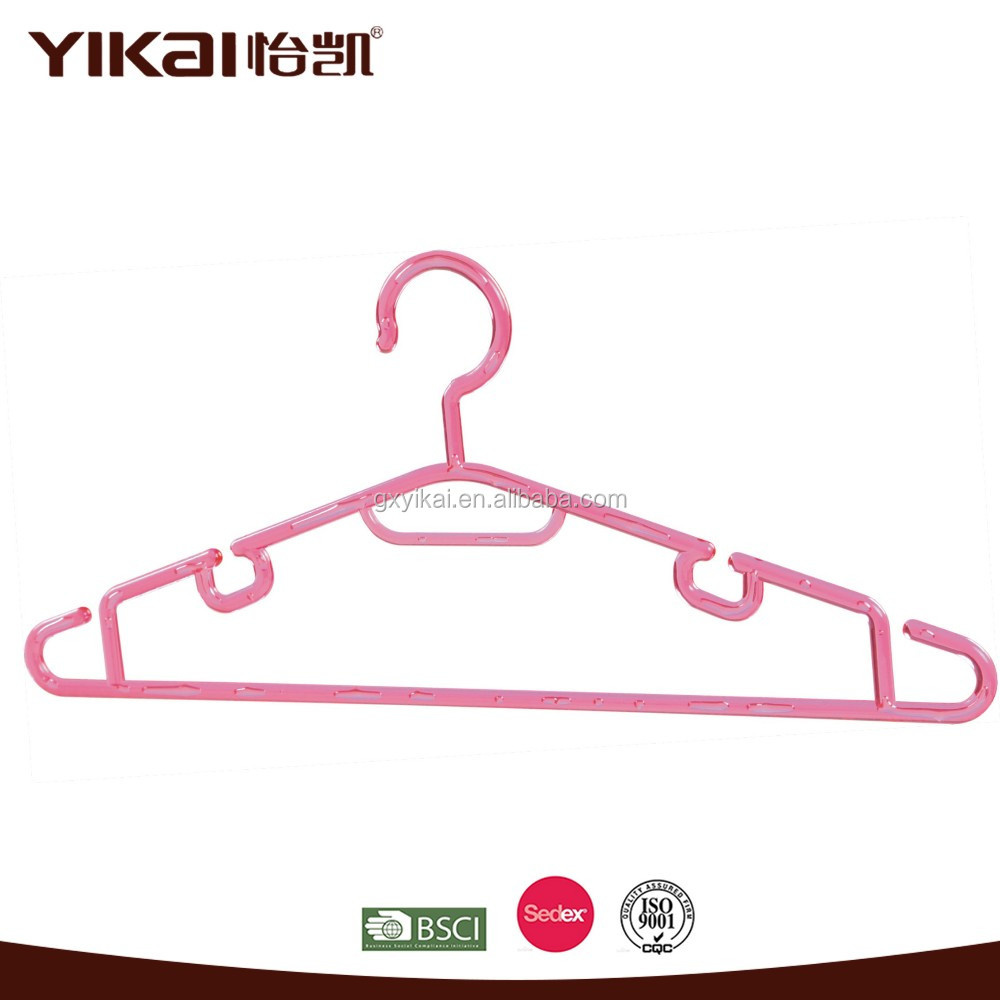 Wholesale High quality multi-function colored plastic cloth hanger for clothes
