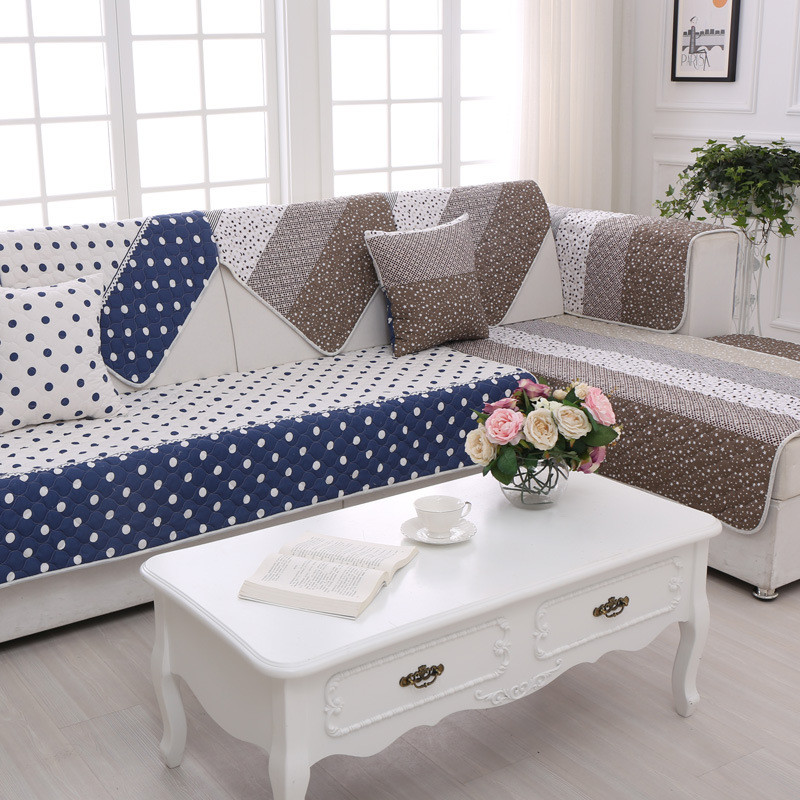 Two Side Printed Polyester Sofa Cover Modern Couch Cover
