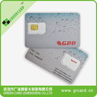 blank plastic sim card for cell phone china gold supplier
