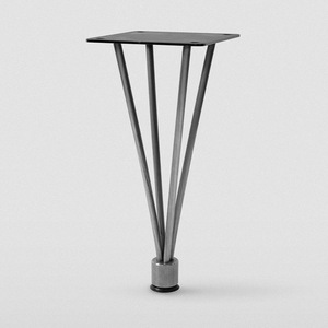 wholesale 4 quarter black metal furniture legs for table