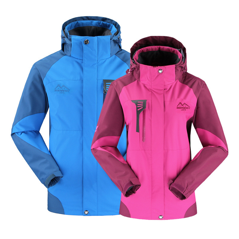2015 Winter Men Women Lovers Waterproof Camping Hiking Jackets Outdoor Takedown Hooded Coats 8 Colors Available, Plus Size S-3XL