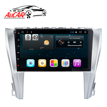 Aucar 7.1 Mobil Multimedia untuk Toyota Camry 2015-2017 Touch Screen Head Unit Mobil Radio Stereo Video <span class=keywords><strong>Bluetooth</strong></span> 4G IPS Akses Internet Nirkabel Audio