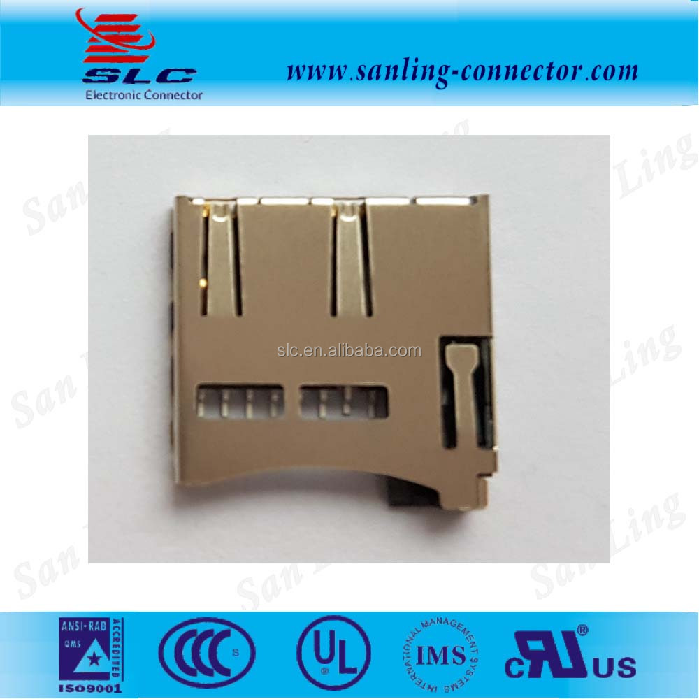 Push Card, SMT Type,8Pin+Switch