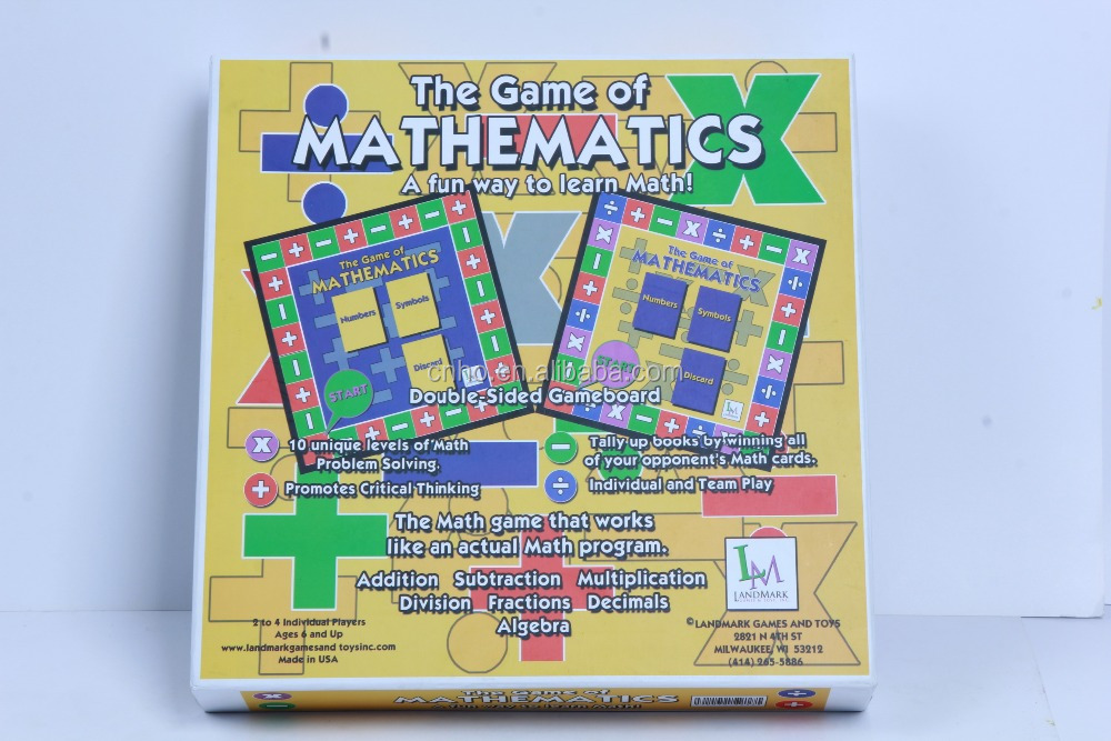 Math Learning Game Mathematics Board Game - Buy Board Games  Printing,Intellectual Board Game,Educational Board Game Product on  Alibaba com