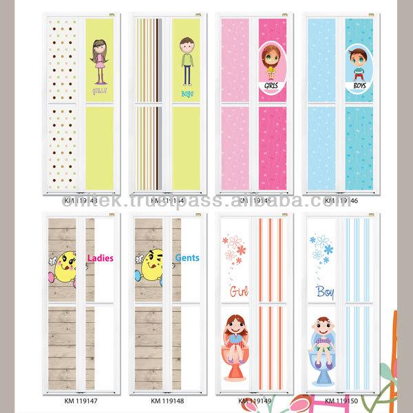 Cartoon Bifold Door,Bi-fold Door,Bifold Door,Door,Toilet Door ...